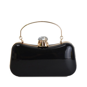 Patent leather handbag fashion wedding bridal party Europe and the United States popular portable evening bag