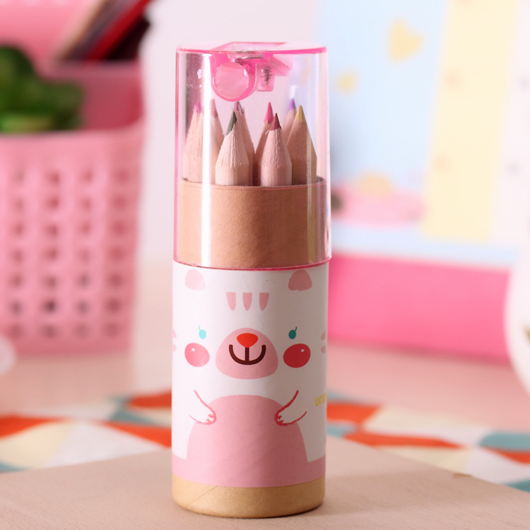 Cute mini bear 12 color small pencil drawing pen NHZE193788