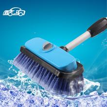 酷驹客?#20302;?#25226;伸缩长杆柄泡沫洗车刷子喷水通水刷汽车美容清洁用品