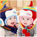 Bộ khăn mũ trẻ em thời trang, kiểu dáng tự tin, phong cách Châu Âu