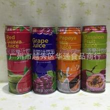 正宗台湾生产 500ml 台贸木瓜牛奶 椰果 芒果果汁饮料  24罐/箱