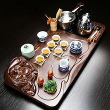 全套乌金石茶盘 陶瓷功夫茶具套装 智能全自动304烧水电器四合一