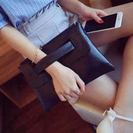 手拿包2018新款韩版简约时尚女士腕包夏季潮流女包斜挎包信封