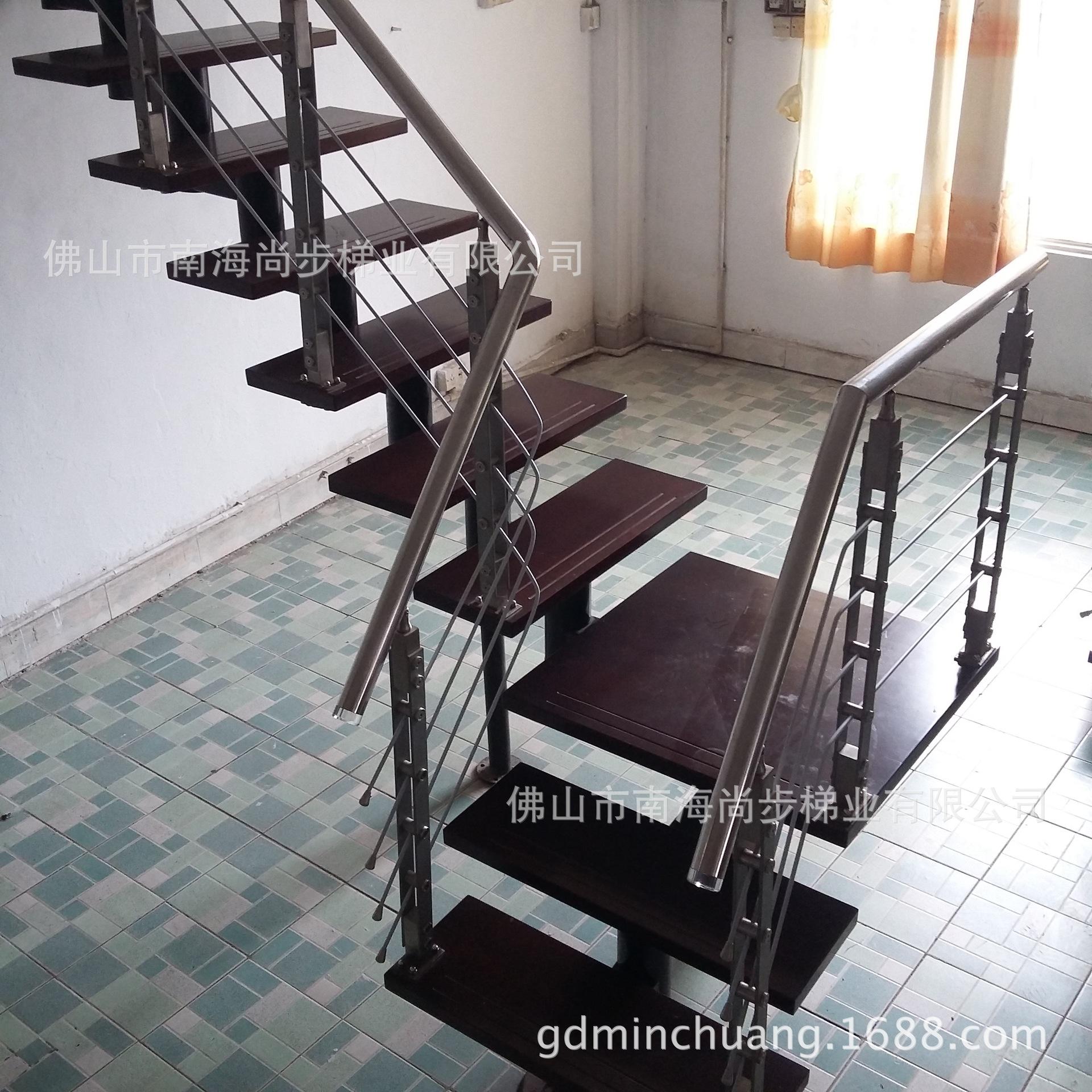 【厂家直销】供应L型不锈钢  室内外豪华成品楼梯