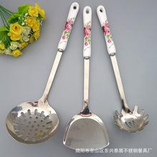 青花瓷礼品 陶瓷餐具六件套 中国风马勺脸谱餐具 鱼尾勺叉两件套