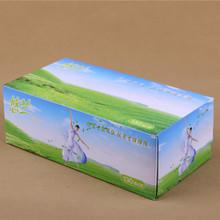 厂家定做盒装抽纸悠兰130抽批发面巾纸 广告礼品车用盒抽定制