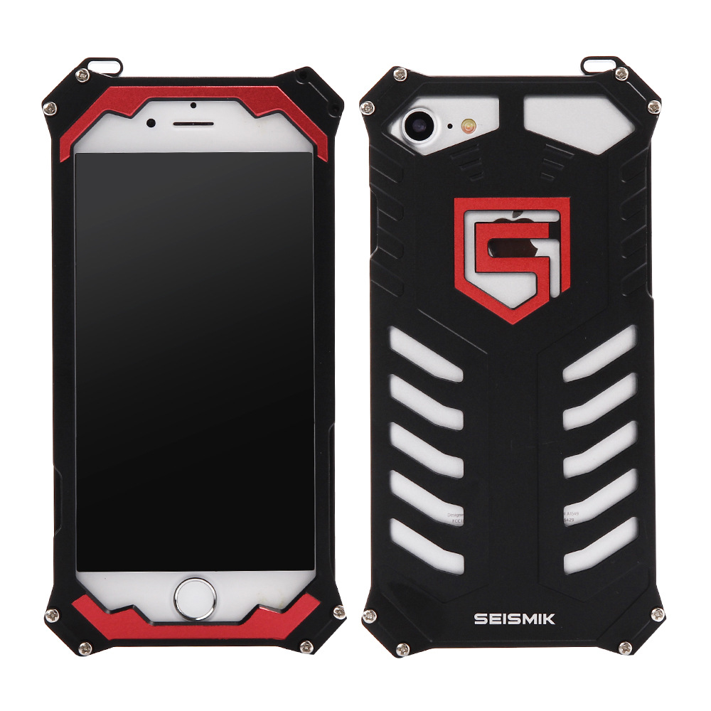 SEISMIK S-ONE Armor Man Shockproof Aluminum Shell Metal Case Cover for Apple iPhone 7 Plus & iPhone 7