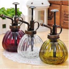 欧式复古玻璃洒水壶 手压式气压式喷壶 玻璃浇花喷雾器玻璃瓶批发