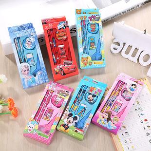 热卖 韩国文具礼盒套装幼儿园儿童学生文具套装学习用品厂家批发