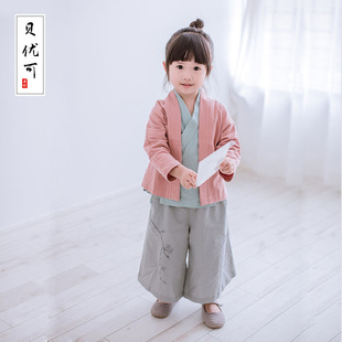 Tony gifted wholesale Chinese style cotton clothing Sinology Banham fall outside the new children's clothing girls s