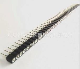 单排圆孔排母 排针母座 间距2.54MM 1*40P 针座排针插座 内金外锡