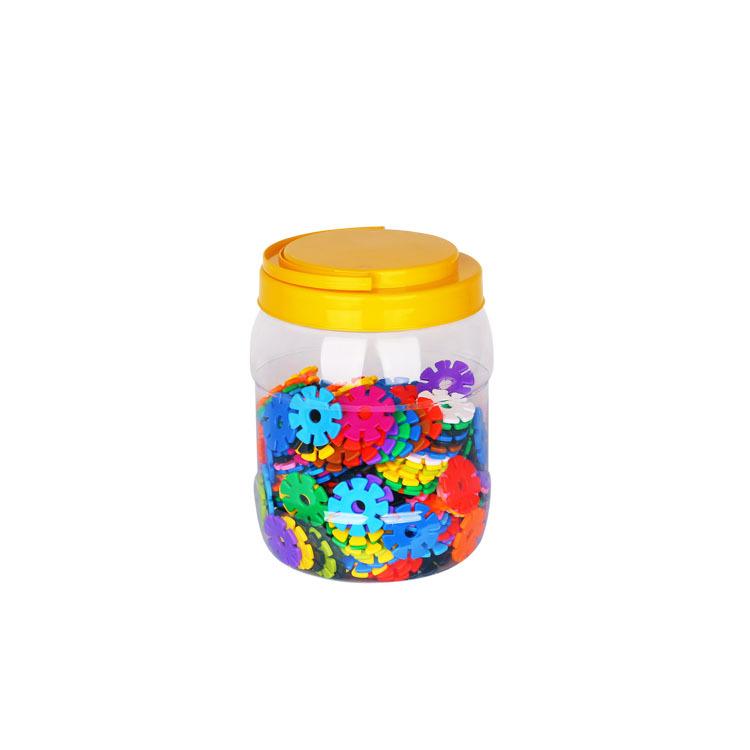 儿童智能塑料拼装积木3-6周岁男女孩启蒙拼插加厚雪花片玩具