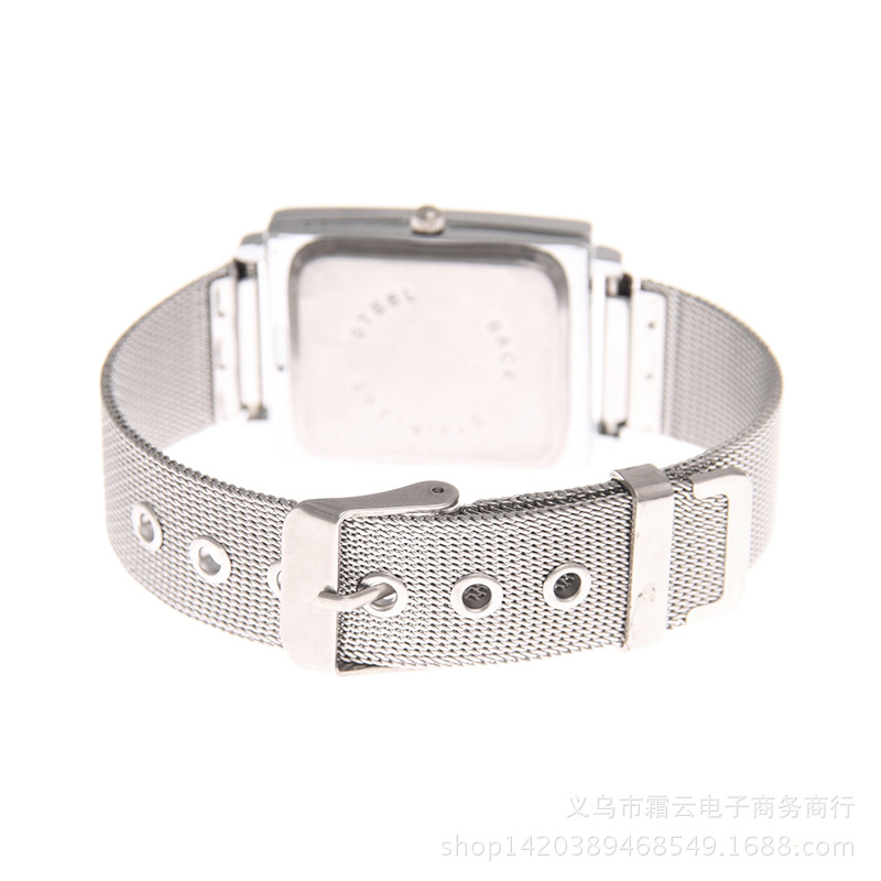 Leisure Ordinary glass mirror alloy watch black NHSY0648