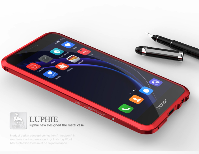 Luphie Blade Sword Slim Light Aluminum Bumper Metal Shell Case for Huawei Honor 8
