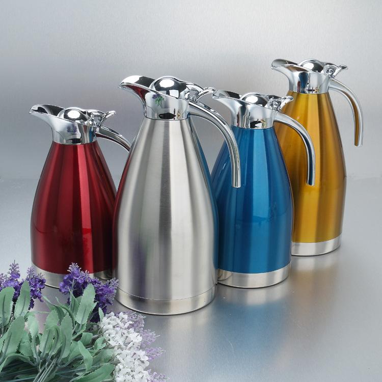 厂价直销不锈钢保温壶双层真空热水壶欧式家用咖啡壶冷水瓶礼品