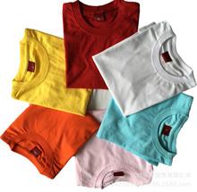 圆筒俱乐部圆领纯棉T恤 儿童活动赠品广告文化衫定制可爱图案印字