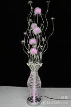 创意花瓶摆件客厅led灯具结婚乔迁礼品铝线灯工程定制一件代发