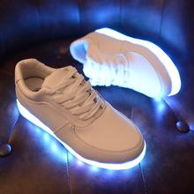 廠家直銷七彩發光鞋男夜光鞋女款熒光鞋LED鞋潮流USB充電燈光鞋