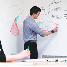 送白板笔 专业供应45cm×2m教学用白板贴纸 环保可移墙贴厂
