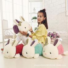 新款趴趴兔毛絨玩具兒童抱枕兔公仔布娃娃送女生生日禮物女批發
