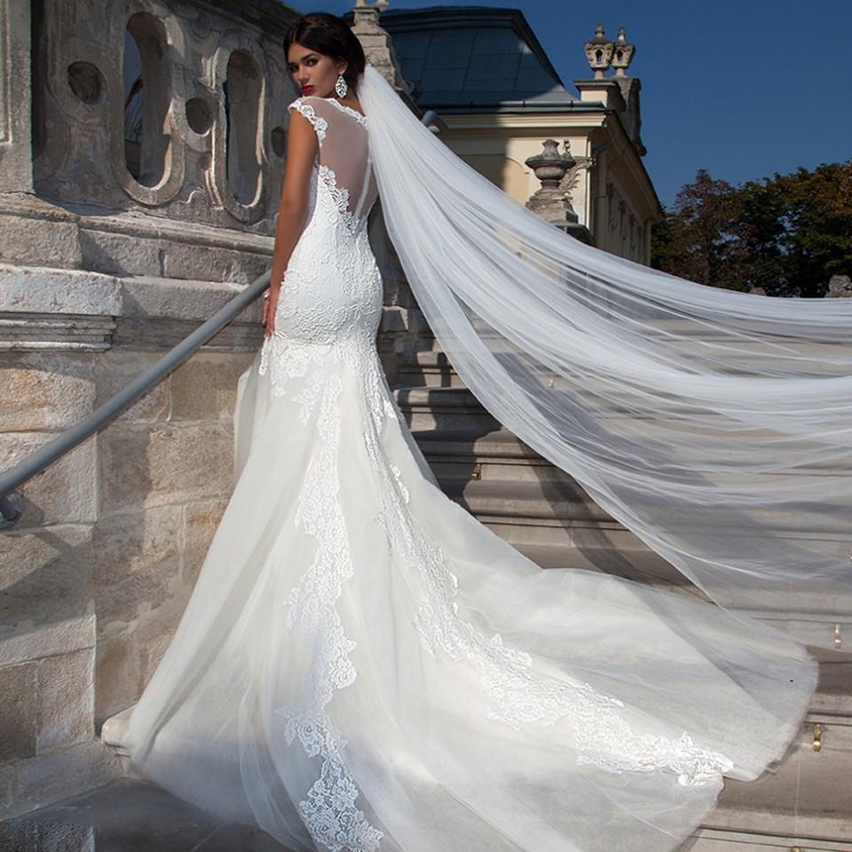 韩式简约单层3米新娘头纱超长拖尾头纱软纱外贸原装进口厂家批发