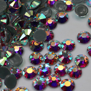 Rhinestones white AB magic glass flat bottom drill hot DIY clothing accessories nail accessories stick drill dance suit hot drill