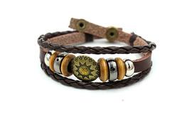 Europe and the United States popular retro leather bracelet handmade beaded leather bracelet bracelet Yiwu jewelry