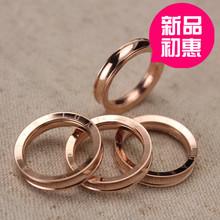凹槽新款戒指 多层钛钢玫瑰金 高质现货批发 exo 朋克时尚227