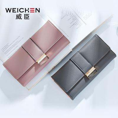 2018 Weissin new ladies wallet Nhật Bản và Hàn Quốc thẻ dung lượng lớn thời trang đơn giản khóa wallet wallet