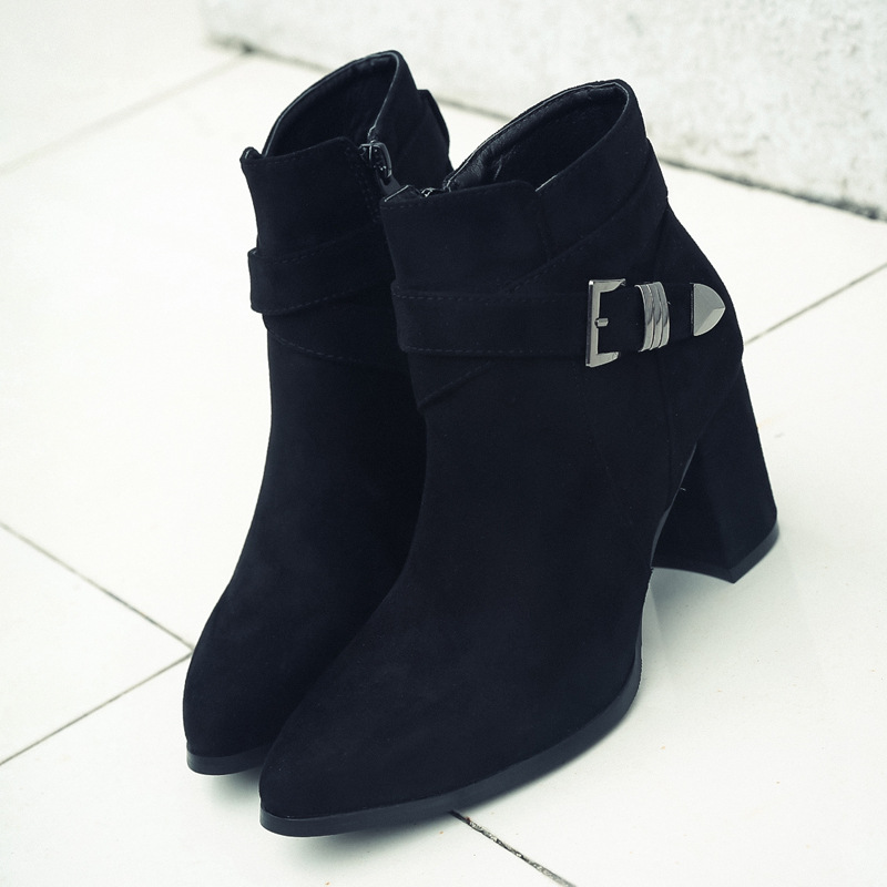 Thick heels leisure ankle boot single boots high heel boots's main photo