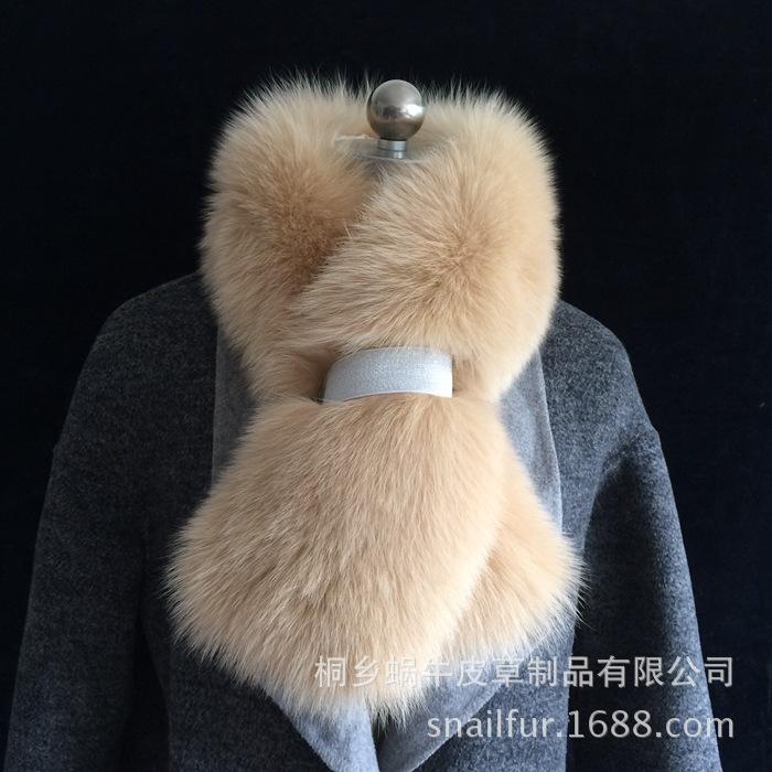 欢乐颂同款狐狸毛围巾升级版整皮真狐狸毛围脖 安迪同款围巾