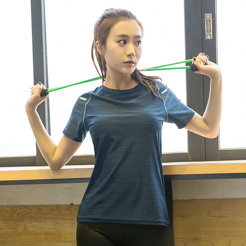 大码户外运动速干T恤女装胖妹妹200斤瑜伽上衣跑步健身瑜伽短袖
