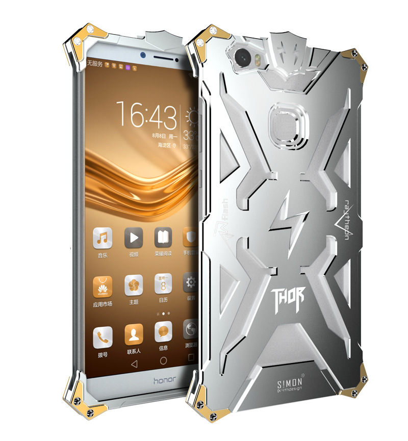 SIMON THOR Aviation Aluminum Alloy Shockproof Armor Metal Case Cover for Huawei Honor Note 8