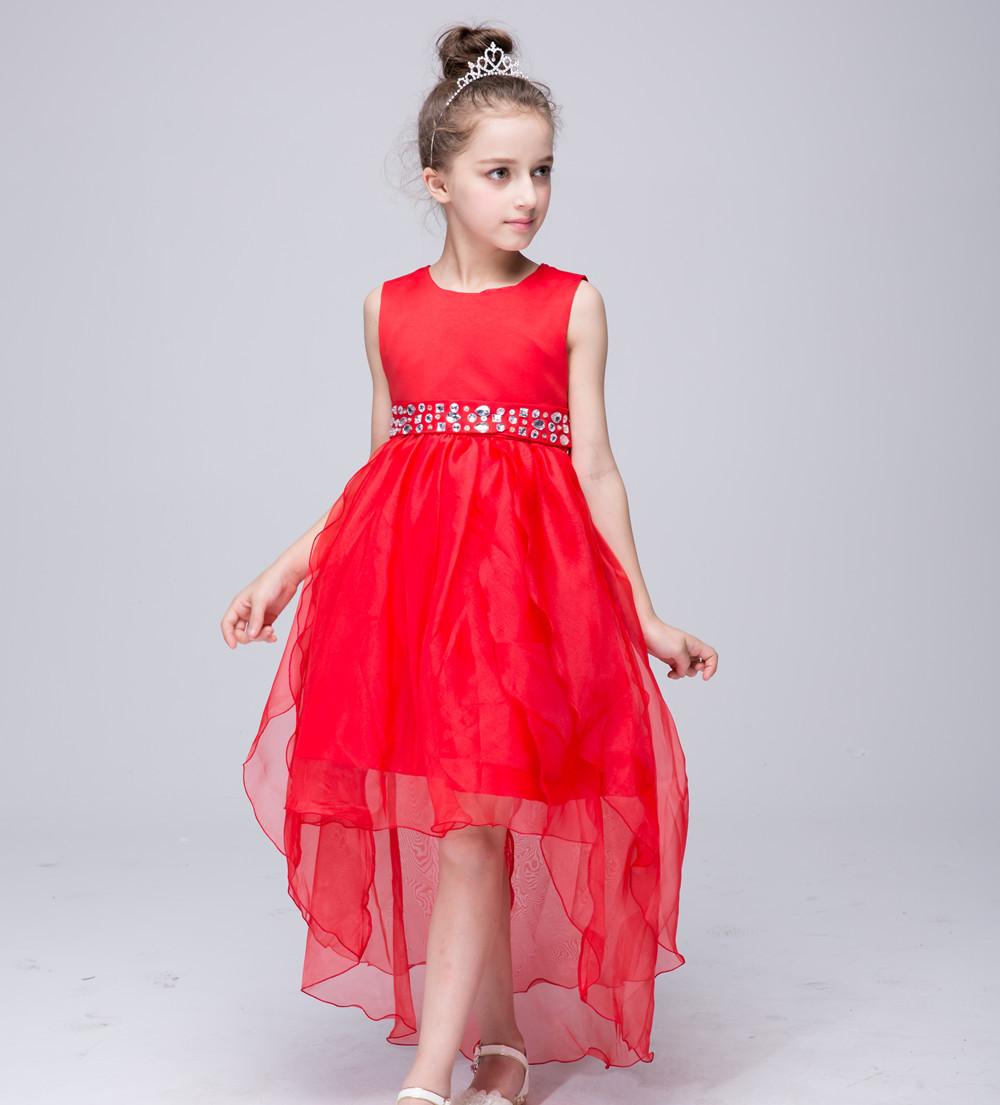 2018 Elegant Christmas New Year Baby Girls Long Tail Dress
