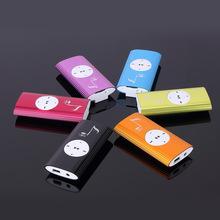新款插卡MP3播放器金属音符运动夹子mp3带外响随身听礼品订单厂家