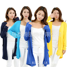 新款女装加肥加大韩版开衫莫代尔中长款特大码女装大码防晒衣特大
