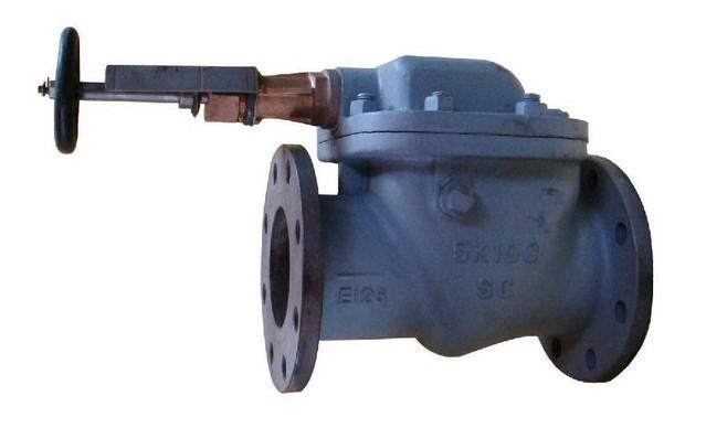 CB-T3477-92 带手柄可闭立式防浪阀