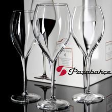 透明玻璃高脚红酒杯 欧美时尚美观纯色简约个性居家实用玻璃杯