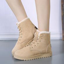 批发秋冬季新款雪地靴女短靴保暖棉鞋加绒马丁靴大码女靴学生女鞋