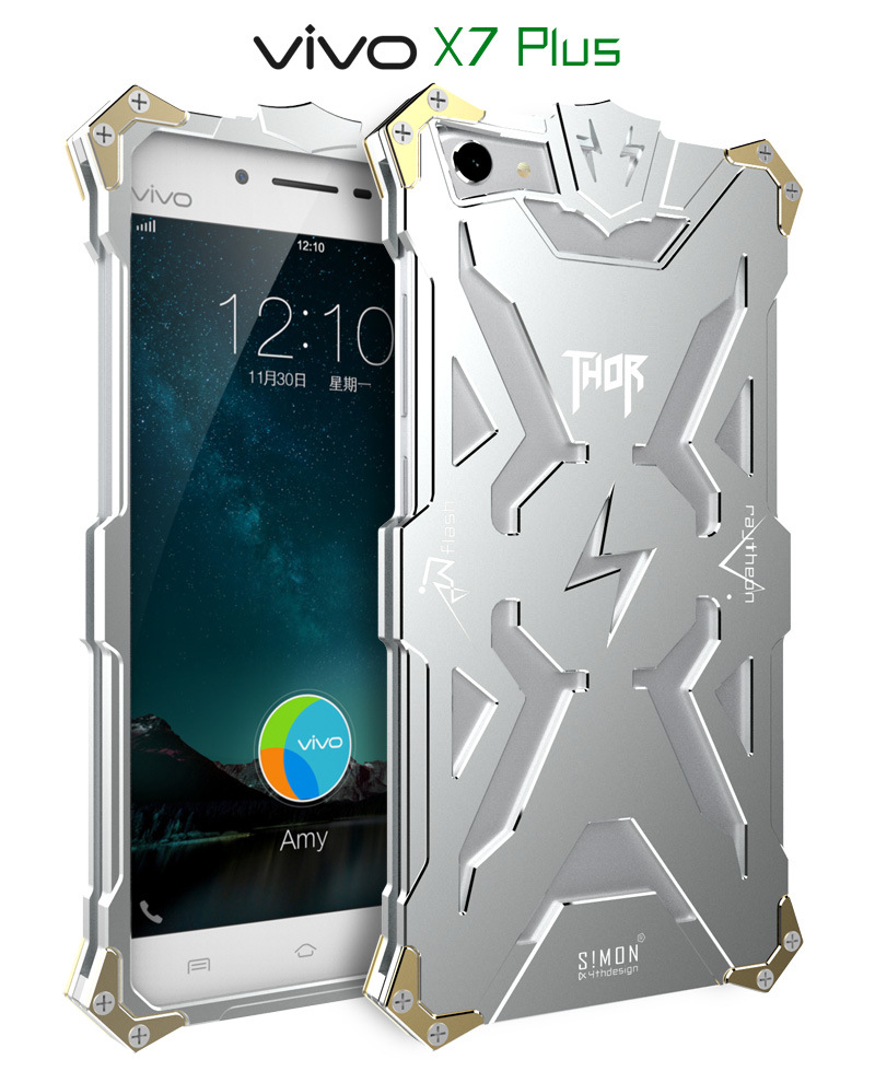 SIMON THOR Aviation Aluminum Alloy Shockproof Armor Metal Case Cover for vivo X7 Plus & vivo X7