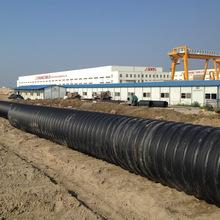 大口径排污水pe钢带波纹管厂家报价 缠绕增强型hdpe钢带管图片