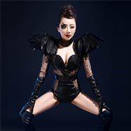 Celebrar Macacão Outfit Costume Show Bodysuit Desgaste Desempenho Cantora