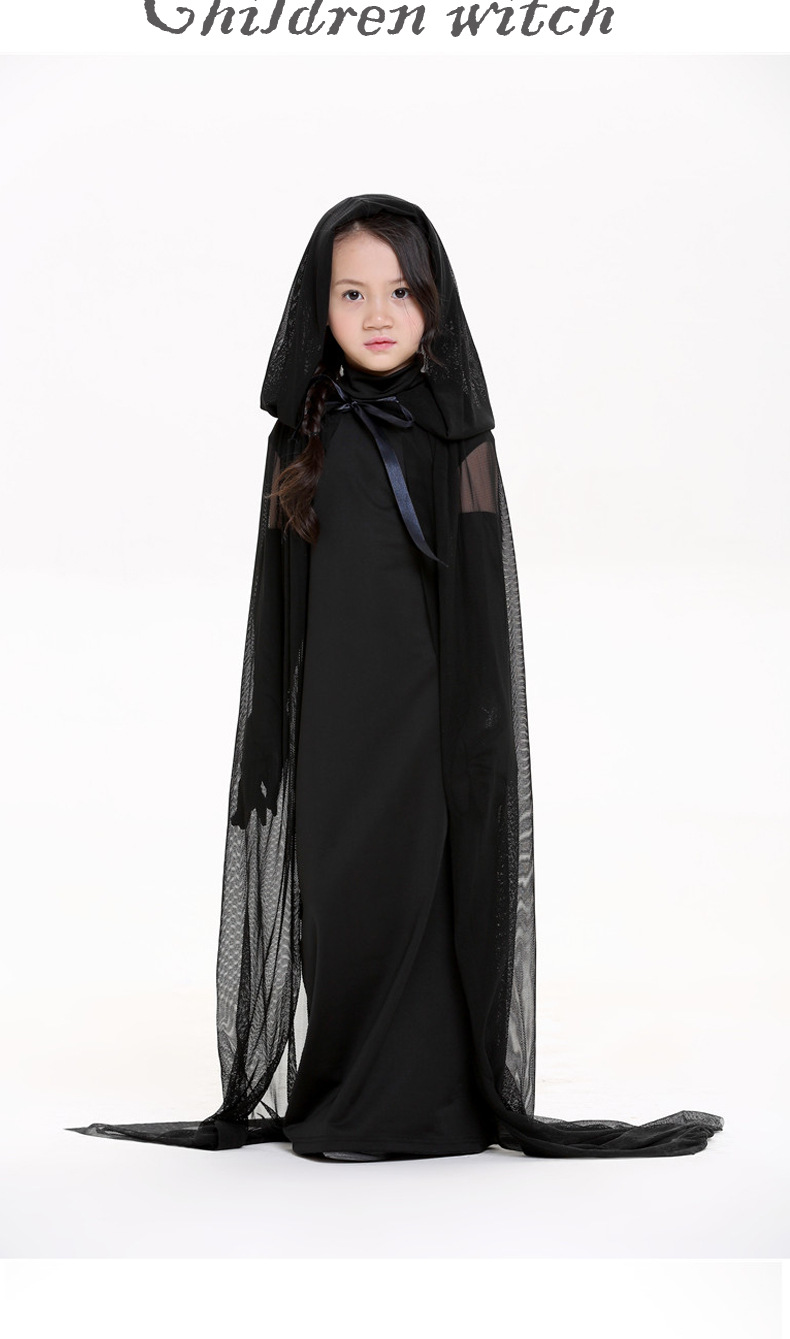 Black ghost robe Halloween party COS witch costume NHFE153959