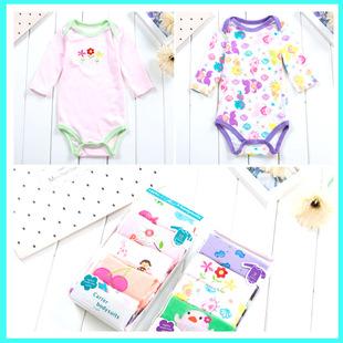 Оптовая торговля извозчик новорожденных треугольник ползунки весна длинный рукав купальник пакет пердеть одежда хлопок одежда ребенок ребятишки