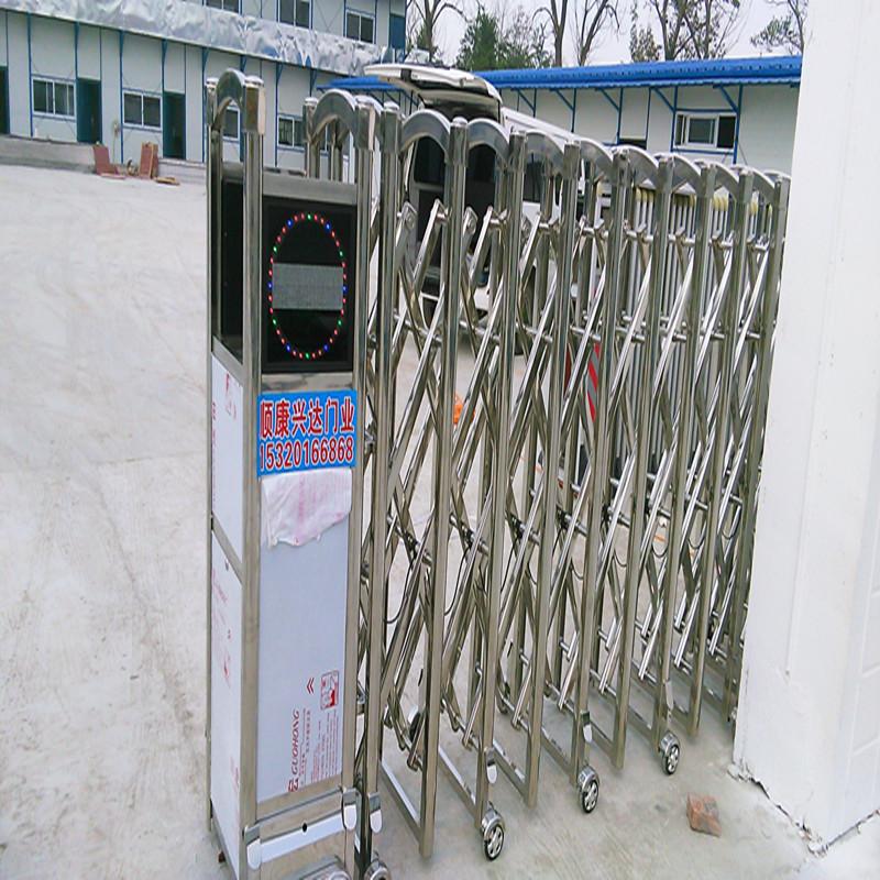 厂家直销安装新款无轨有轨铝合金不锈钢电动伸缩门别墅遥控收缩门