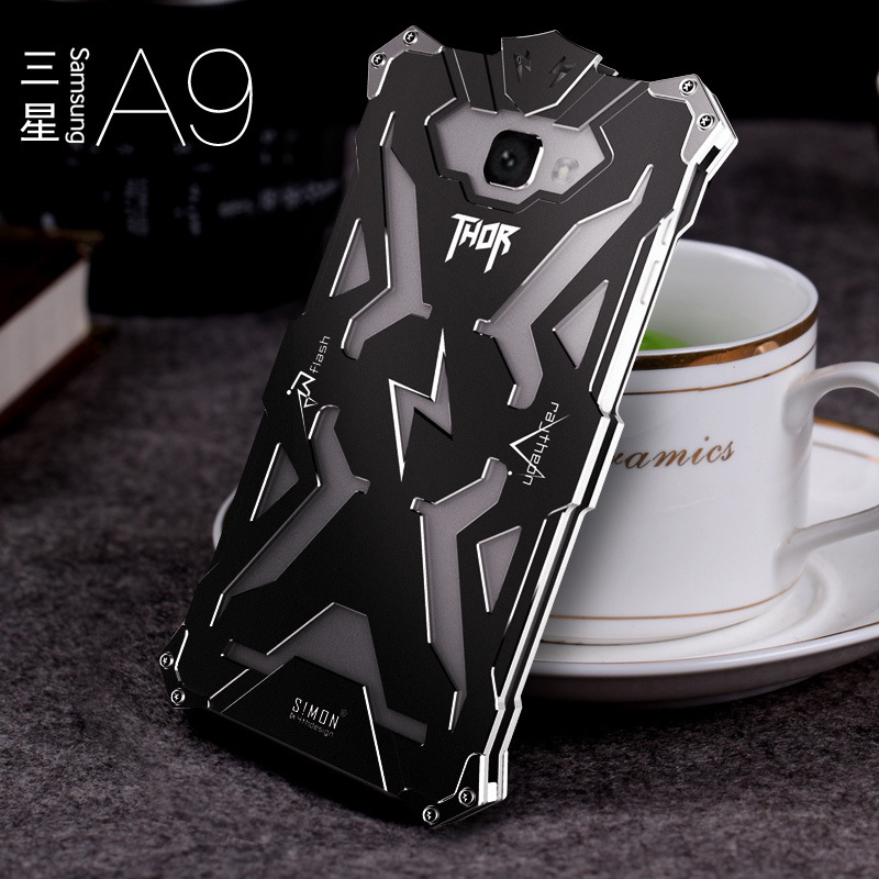 SIMON THOR Aviation Aluminum Alloy Shockproof Armor Metal Case Cover for Samsung Galaxy A9 A9000