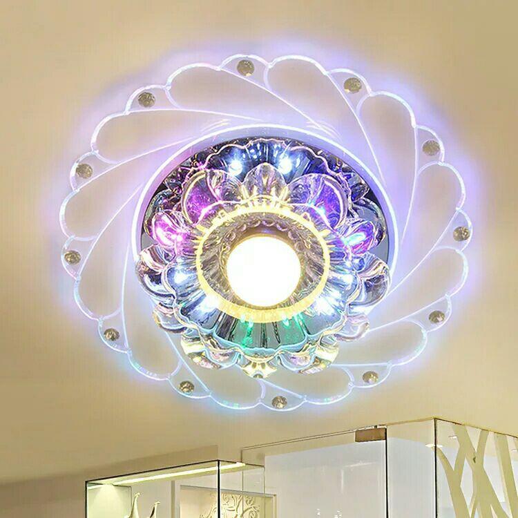 热销led水晶过道走道灯客厅走廊灯门厅入户玄关灯阳台吸顶灯包邮
