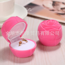 Rose Jewelry Box Valentine's Day Gift Personality Creative Marriage Ring Box Stud Earrings Jewelry Box
