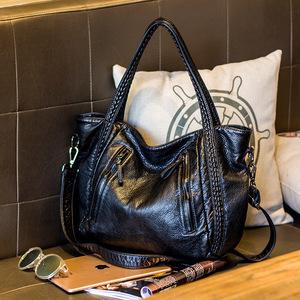 女包2016年秋冬新款包包欧美潮流编织单肩包爆款手提大包一件代发