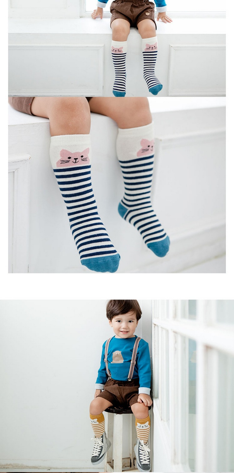Baby Boy Girl fox Stocking Newborn Toddler knee high socks cotton Cute Cartoon Animal Cat Stockings For newborns infant